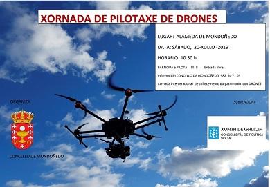 O Concello de Mondoñedo organiza para este sábado unha xornada de pilotaxe de drons