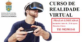 A Concellería de Cultura, Educación e Xuventude de Burela organiza un curso de realidade virtual que se celebrará a última semana deste mes de agosto. O prazo de inscrición remata o día 23