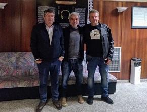 O actor galego, Sergio Pazos, volveu a Burela