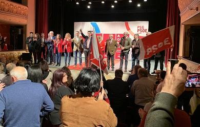 """Gonzalo Caballero chama en Viveiro a rexeitar """"o pacto implícito das dereitas coa extrema dereita"""" e pide aglutinar o voto da esquerda no PSOE"""