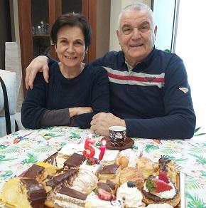 Pepita Blanco e Juan José Amieiro, de San Miguel de Reinante, veñen de celebrar o seu 51º Aniversario de voda
