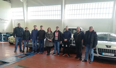 Xa están en Ribadeo os catro alumnos lituanos que farán prácticas durante un mes en empresas da zona. Chegaron á localidade da man de Apaga