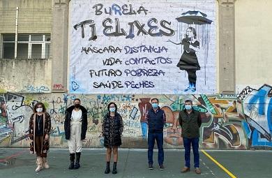 O Concello de Burela pon en marcha unha nova campaña de concienciación social sobre o covid-19, días antes do inicio do nadal