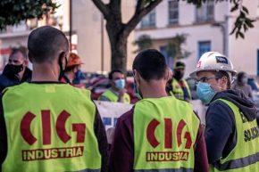 Este luns a CIG convocou unha concentración diante dos Xulgados de Lugo en solidaridade con Kike Rocha, Delegado da CIG na empresa Cotelsa (Auxiliar de Alcoa)