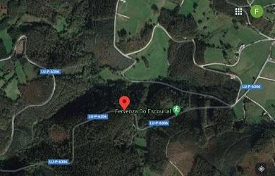 Cortada polo arranxo dun afundimento na calzada a LU-P-6306 na parroquia do Pereiro, en Alfoz