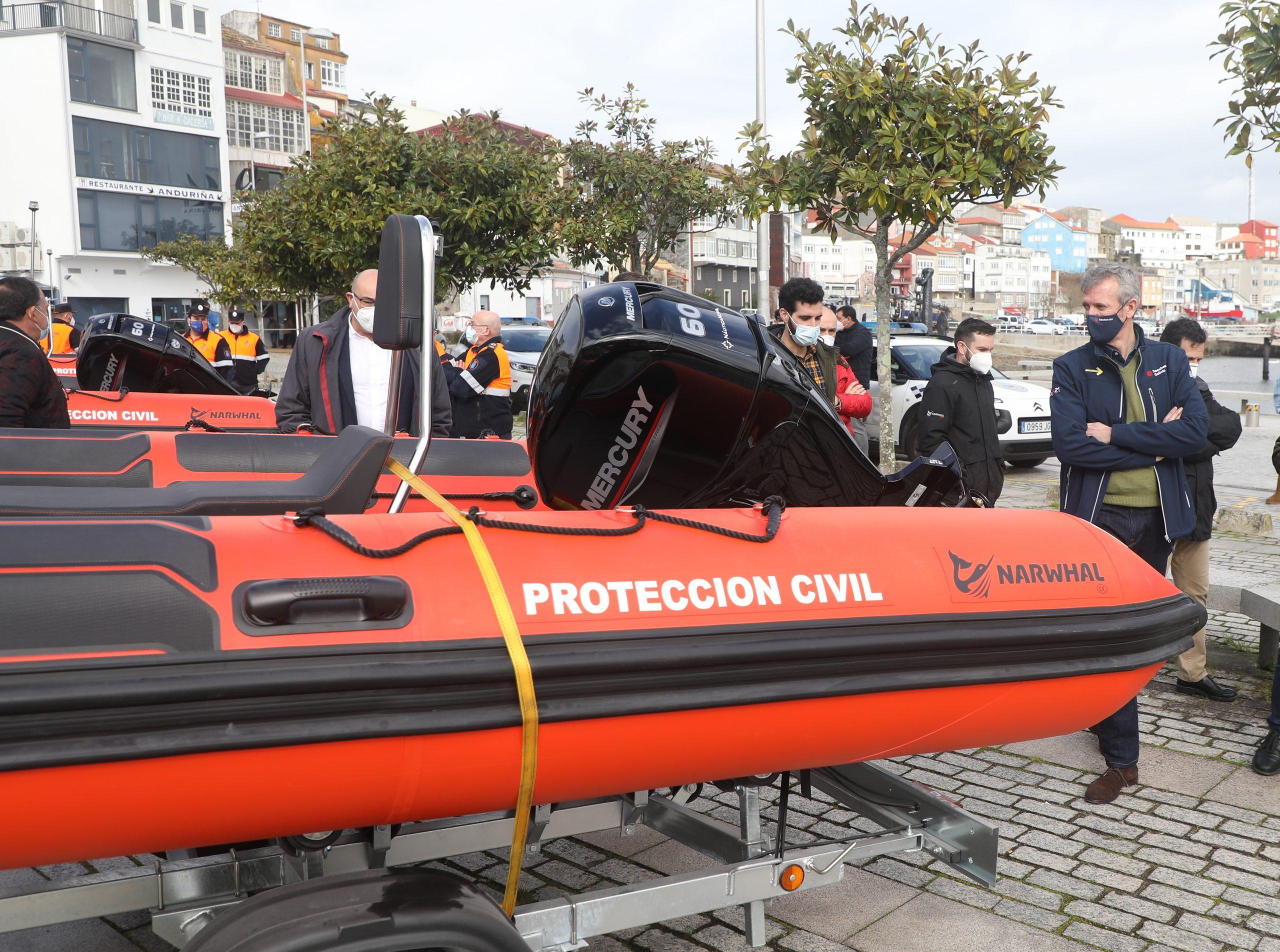 A Xunta mellora o material de agrupacións de voluntarios de Potección Civil con 4 embarcacións de salvamento e rescate, unha delas a Barreiros