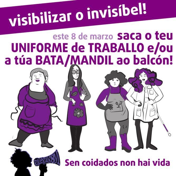 Actividades da plataforma Galegas8M na Mariña Central e Oriental cara o próximo 8 de marzo