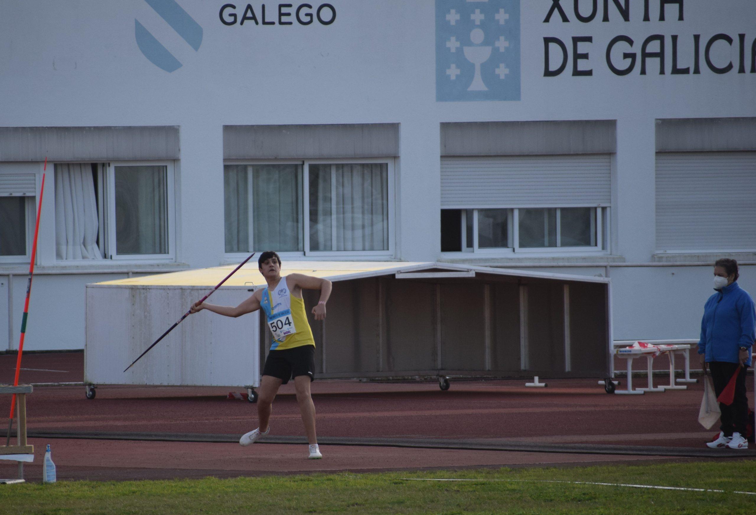 Brais Díaz Salas, 4º no Campionato Galego de lanzamentos longos