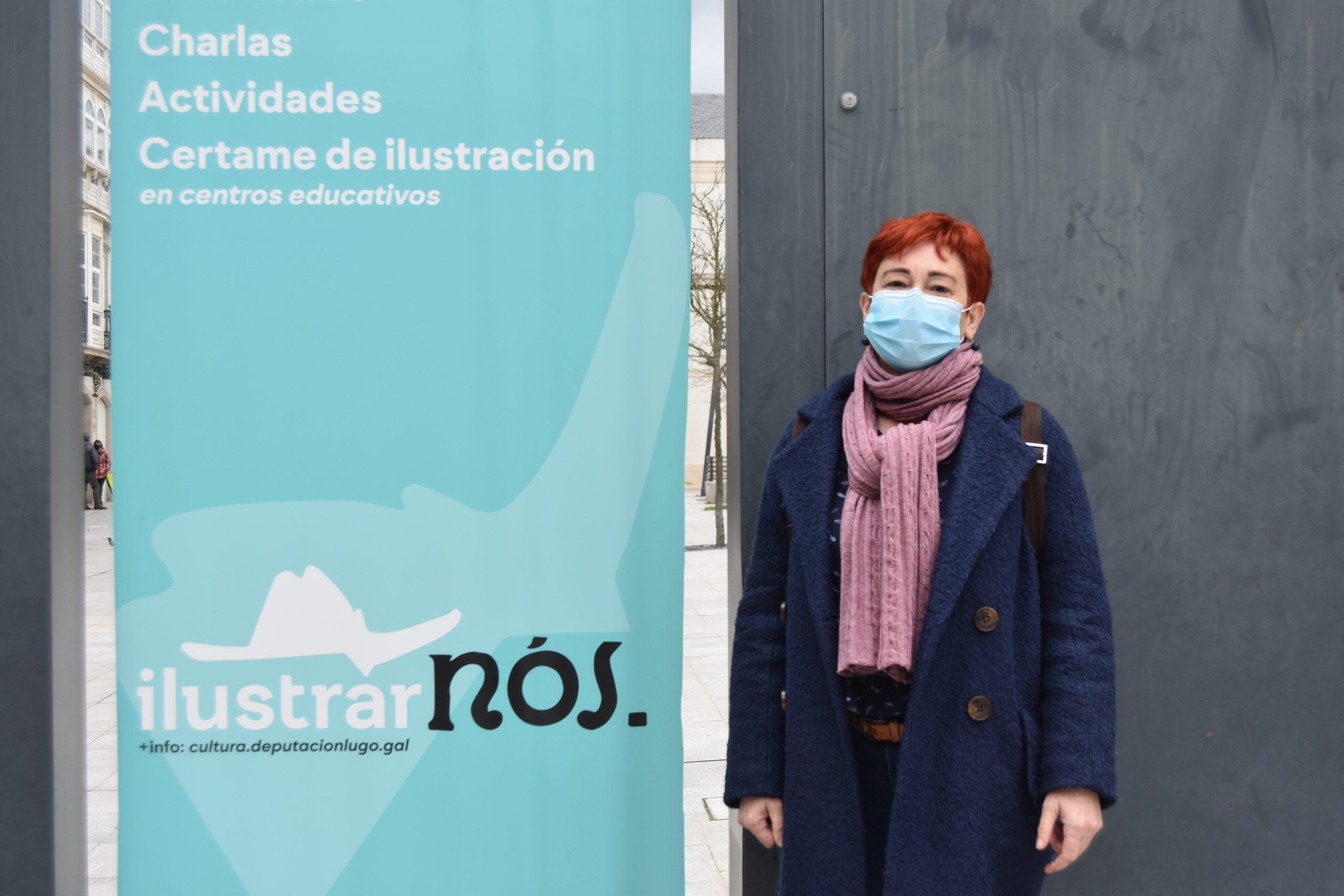 Maite Ferreiro convida ao alumnado da provincia a participar no certame IlustrarNOS