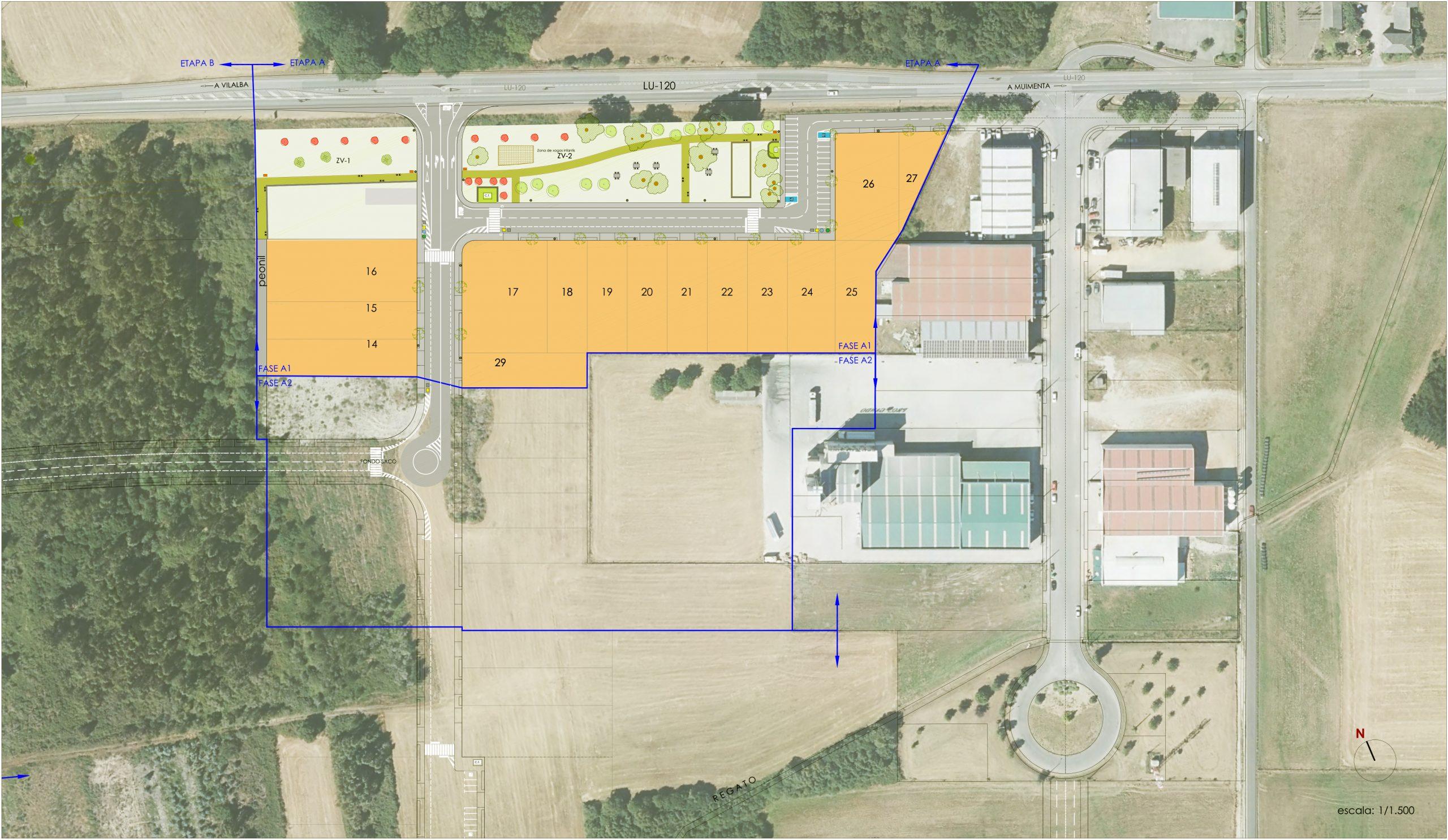 A Xunta licita por máis de 1,3 millóns de euros as obras de ampliación do parque empresarial de Muimenta, en Cospeito