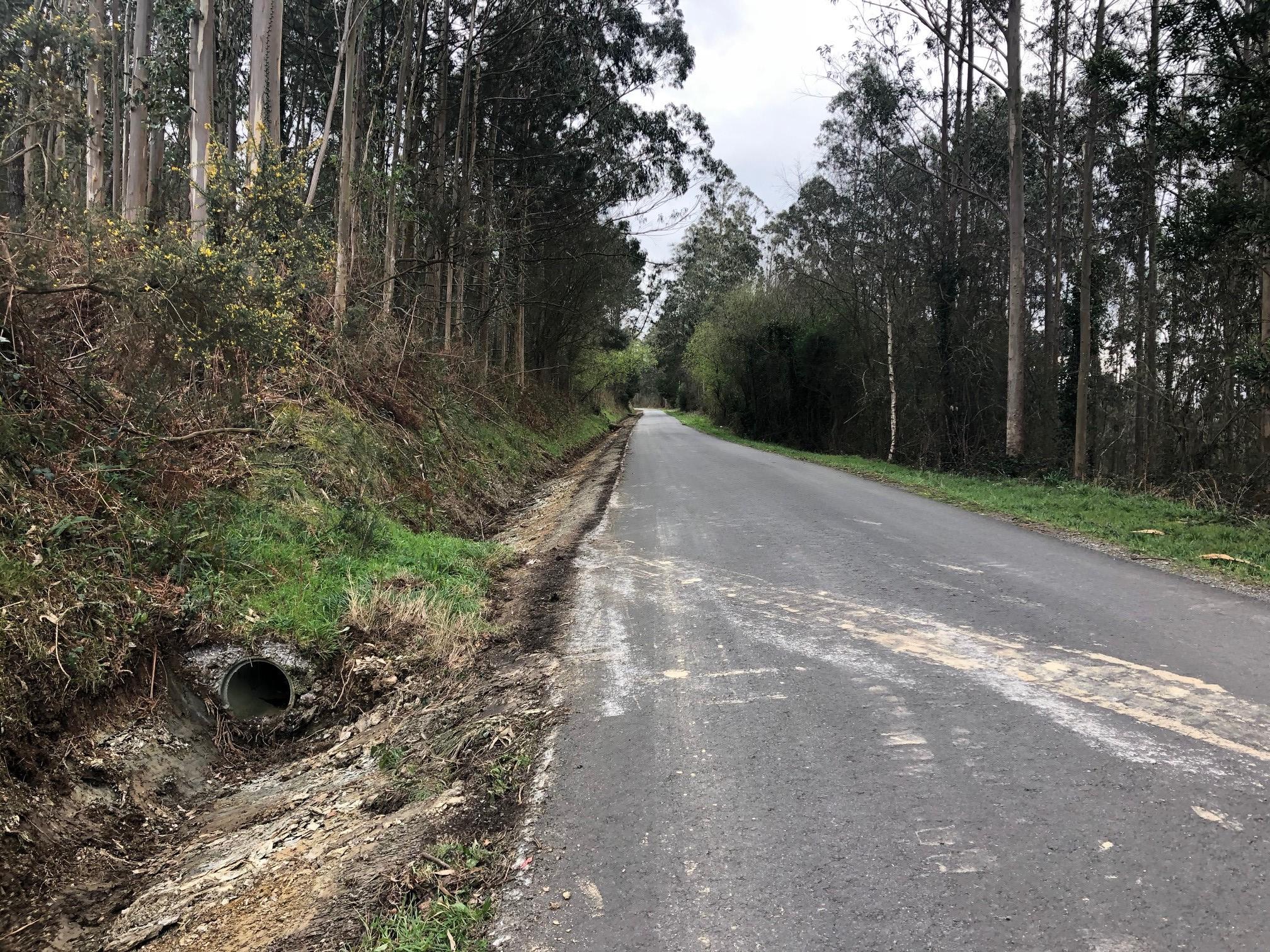 O Concello de Ribadeo realiza labores de limpeza de cunetas en sesenta km de parroquias costeiras