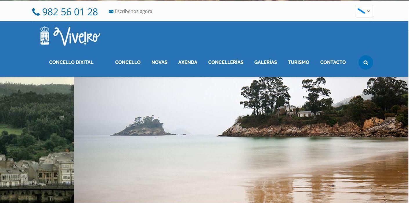Caída a web municipal de Viveiro