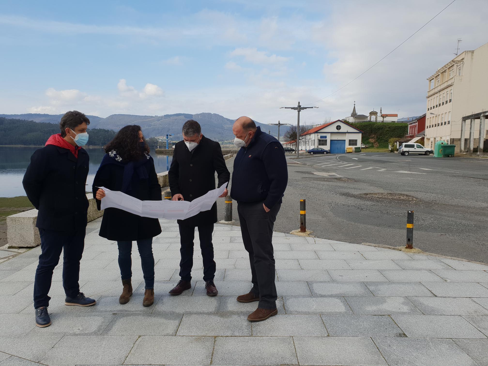 Portos de Galicia tramita a dotación de saneamento e mellora da superficie portuaria do peirao de Ortigueira