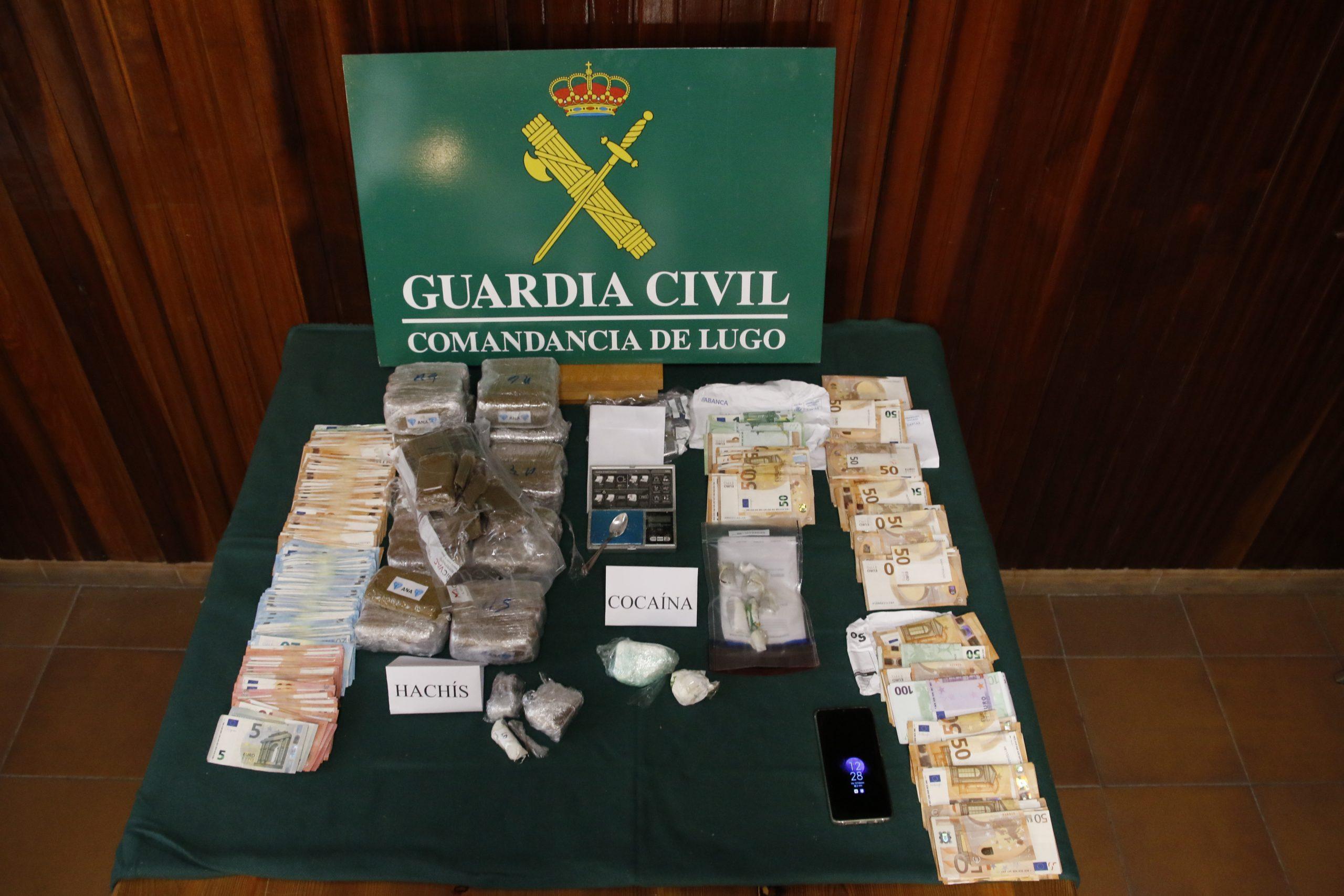 A Garda Civil desarticula unha rede de tráfico de drogas na Mariña