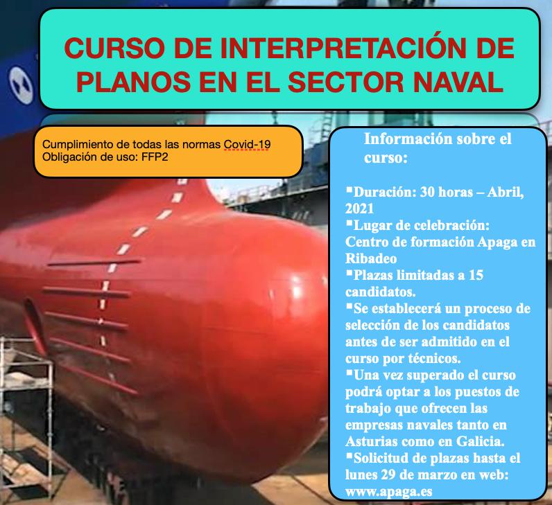Prazas libres para o curso do sector naval que organiza Apaga en Ribadeo