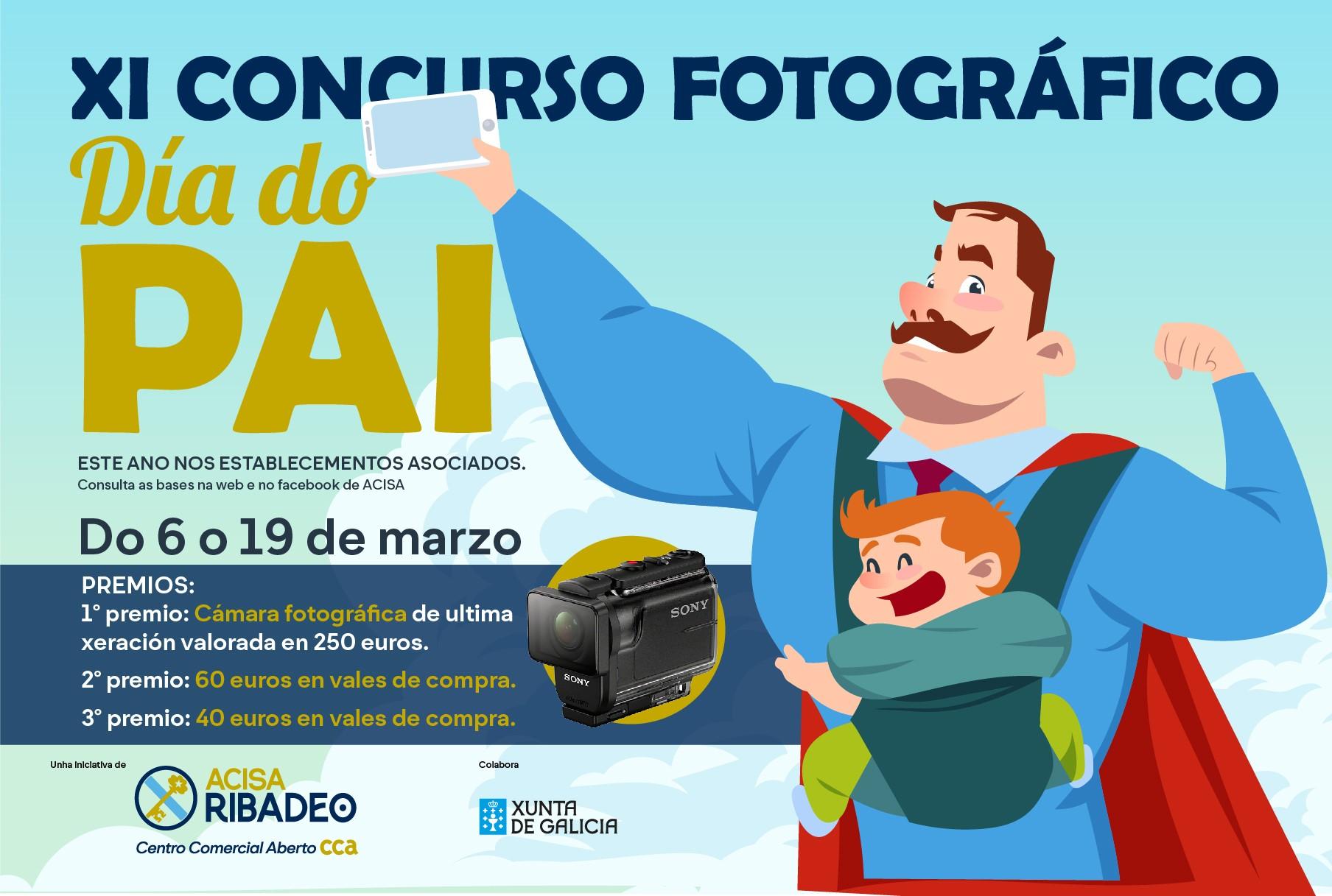 Este venres remata o prazo para participar no concurso fotográfico do Día do Pai de Acisa