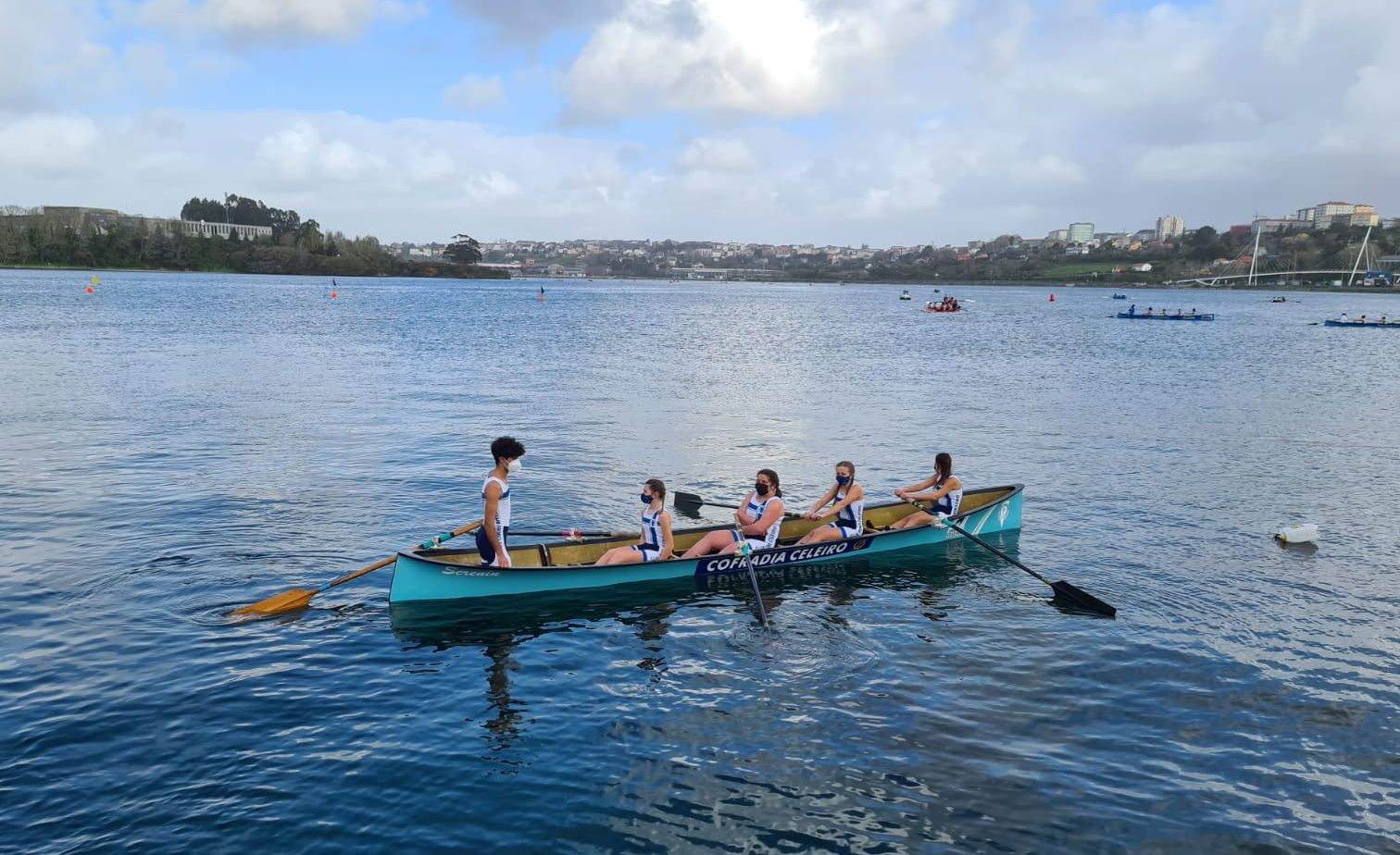 Execelente resultado do Club de Remo Celeiro na regata de A Cabana