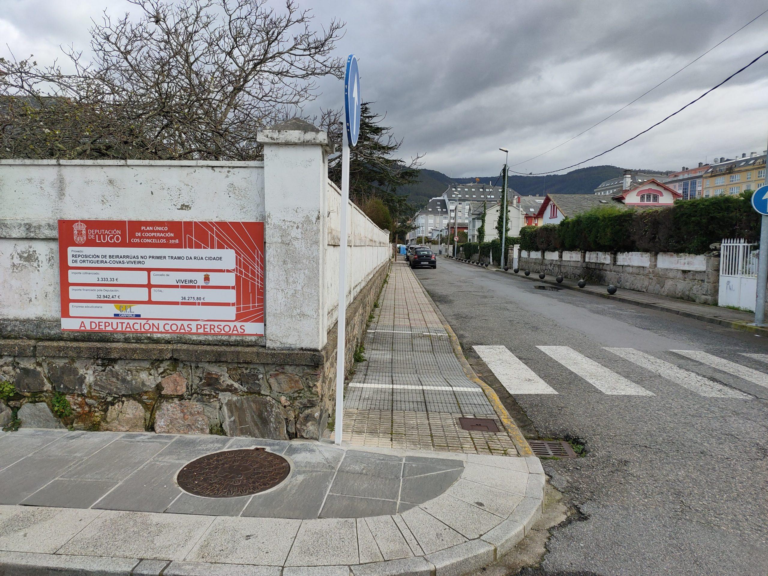 O BNG de Viveiro pide rematar co feismo dos paneis de obras públicas