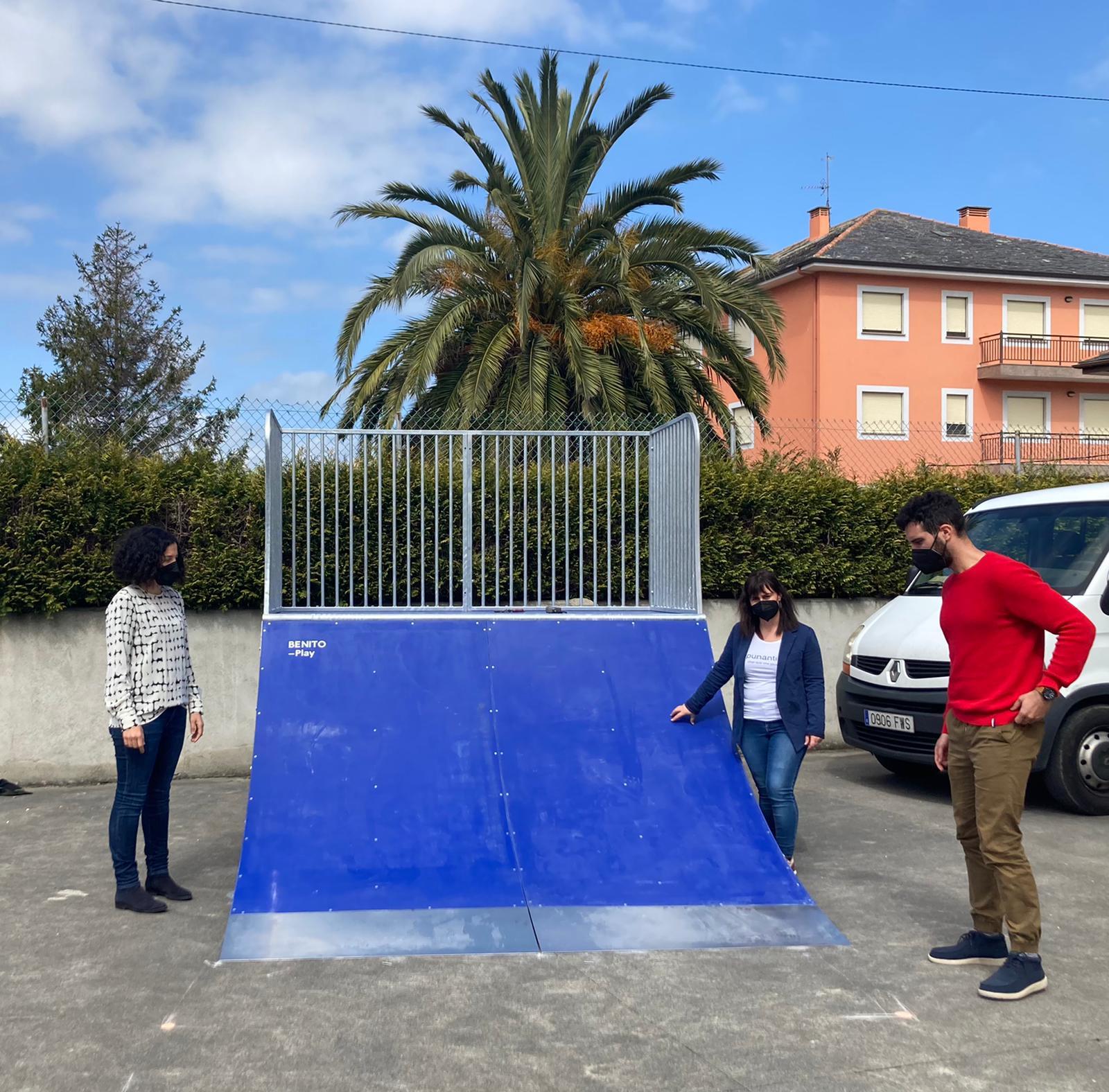 O parque de skate de San Cosme de Barreiros avanza a bo ritmo