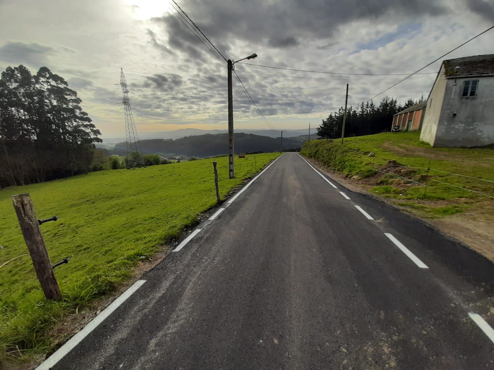 Mellorado o vial de subida a Vilela, en San Martiño