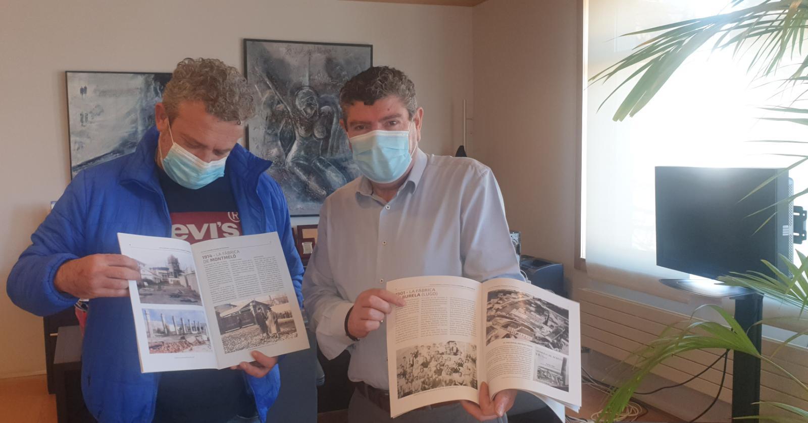 O Concello de Montmeló envía exemplares da publicación 'Redescubriendo la fábrica Cucurny' ao de Burela