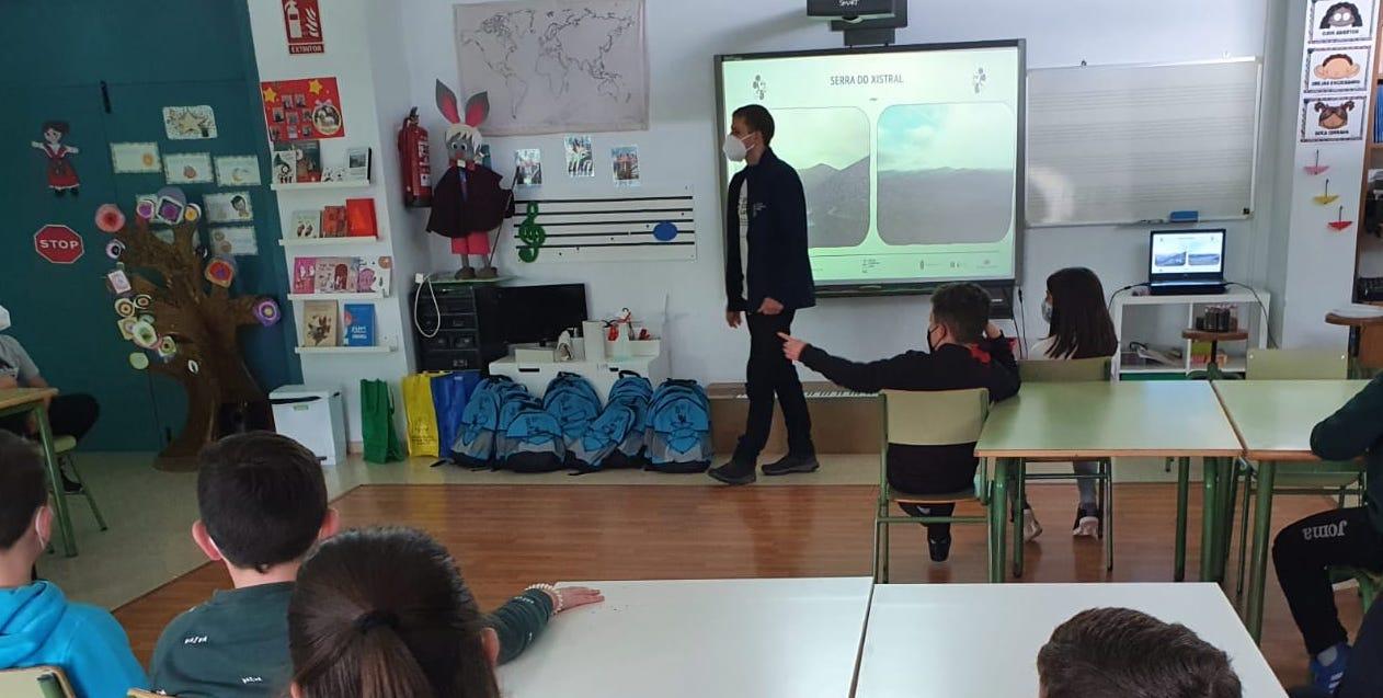 Técnicos do LIFE conciencian aos escolares do centro Santa Rita de Viveiro sobre a importancia da conservación do Xistral