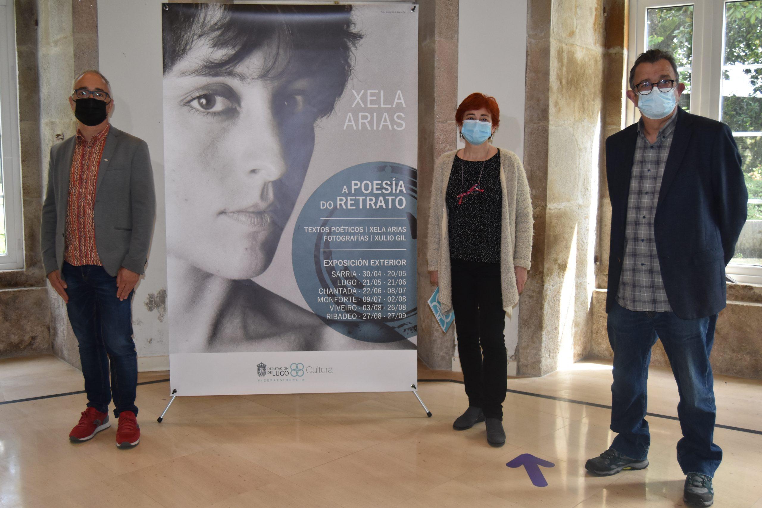 """A Vicepresdencia presentou o proxecto expositivo """"Xela Arias. A poesía do retrato"""",  con imaxes de Xulio Gil e fragmentos poéticos da autora homenaxeada polas Letras Galegas"""