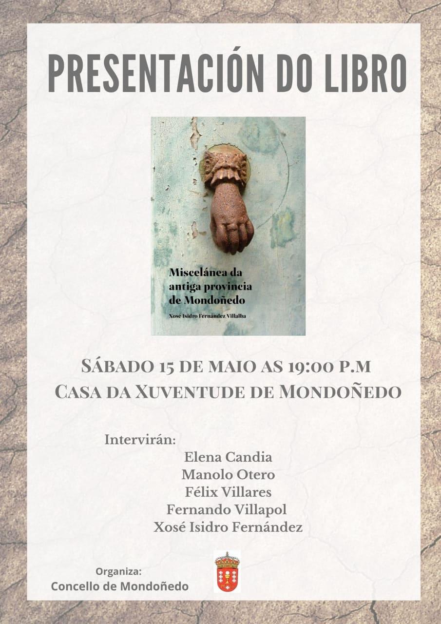 Presentación de Miscélanea da antiga provincia de Mondoñedo de Xosé Isidro Fernández