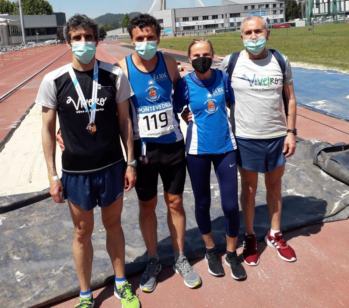 8 medallas do CD Egovarros Viveiro no Campeinato galego Máster de pista ó aire libre
