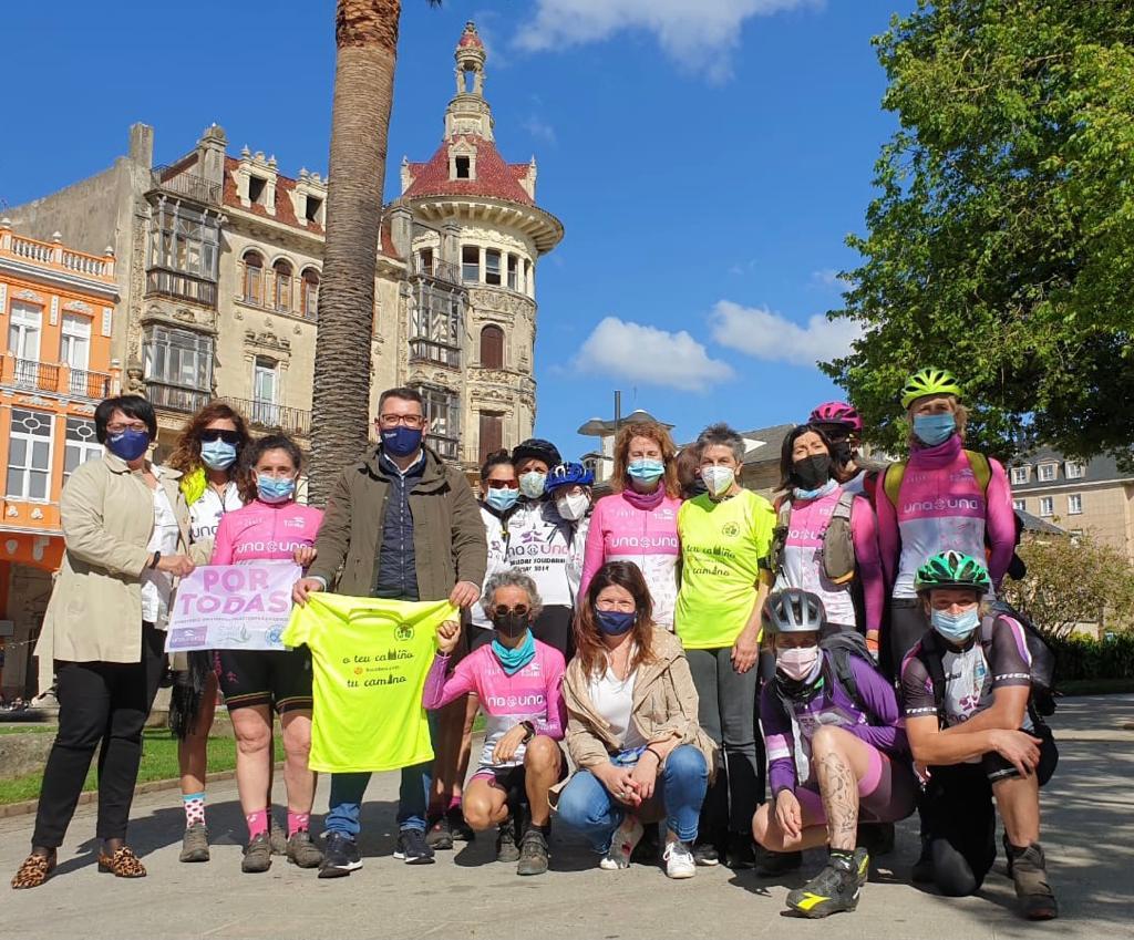 O Grupo Municipal do PP de Ribadeo recibiu ao Club de Ciclismo Una a Una
