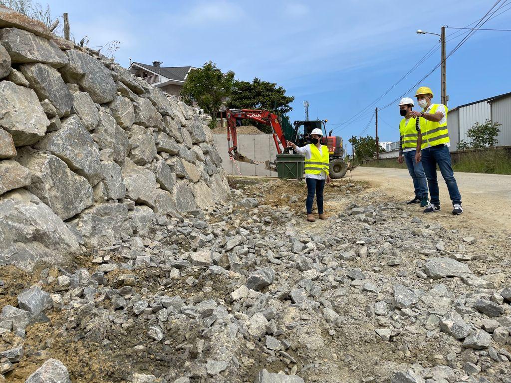 As obras da estrada da estación de Ribadeo avanzan a bo ritmo