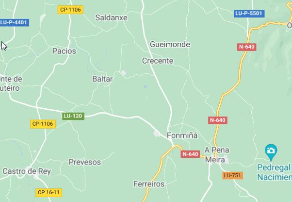 A estrada provincial de Castro de Rei a Campo do Oso quedará cortada por obras de mellora a partir do luns