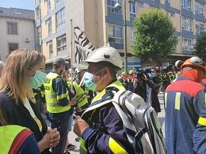 Nova mobilización dos traballadores do aluminio