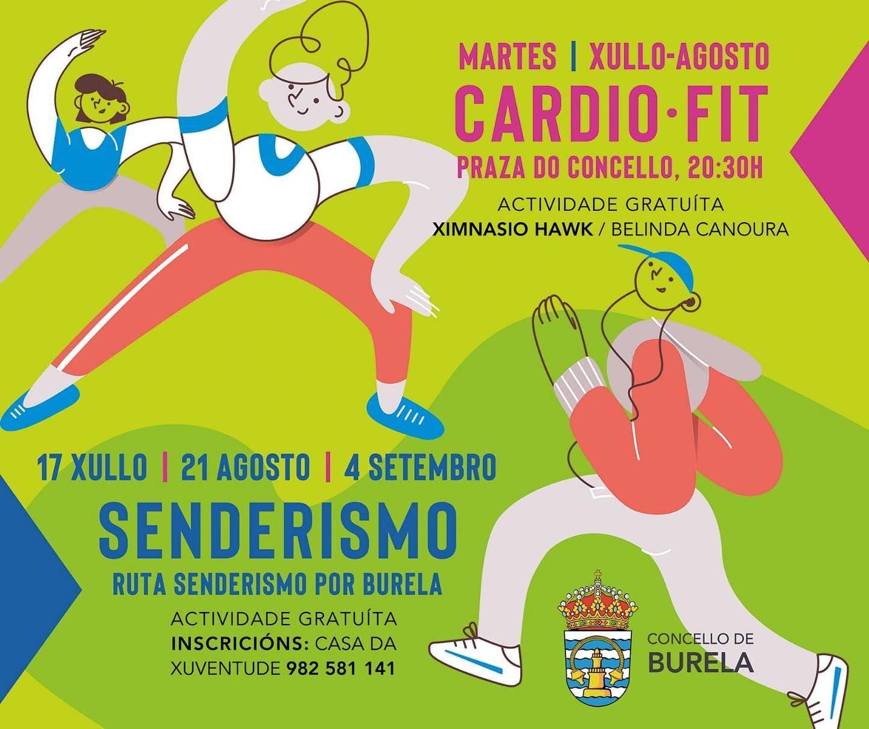 Cardio-fit e rutas de sendeirismo nas actividades de verán de Burela