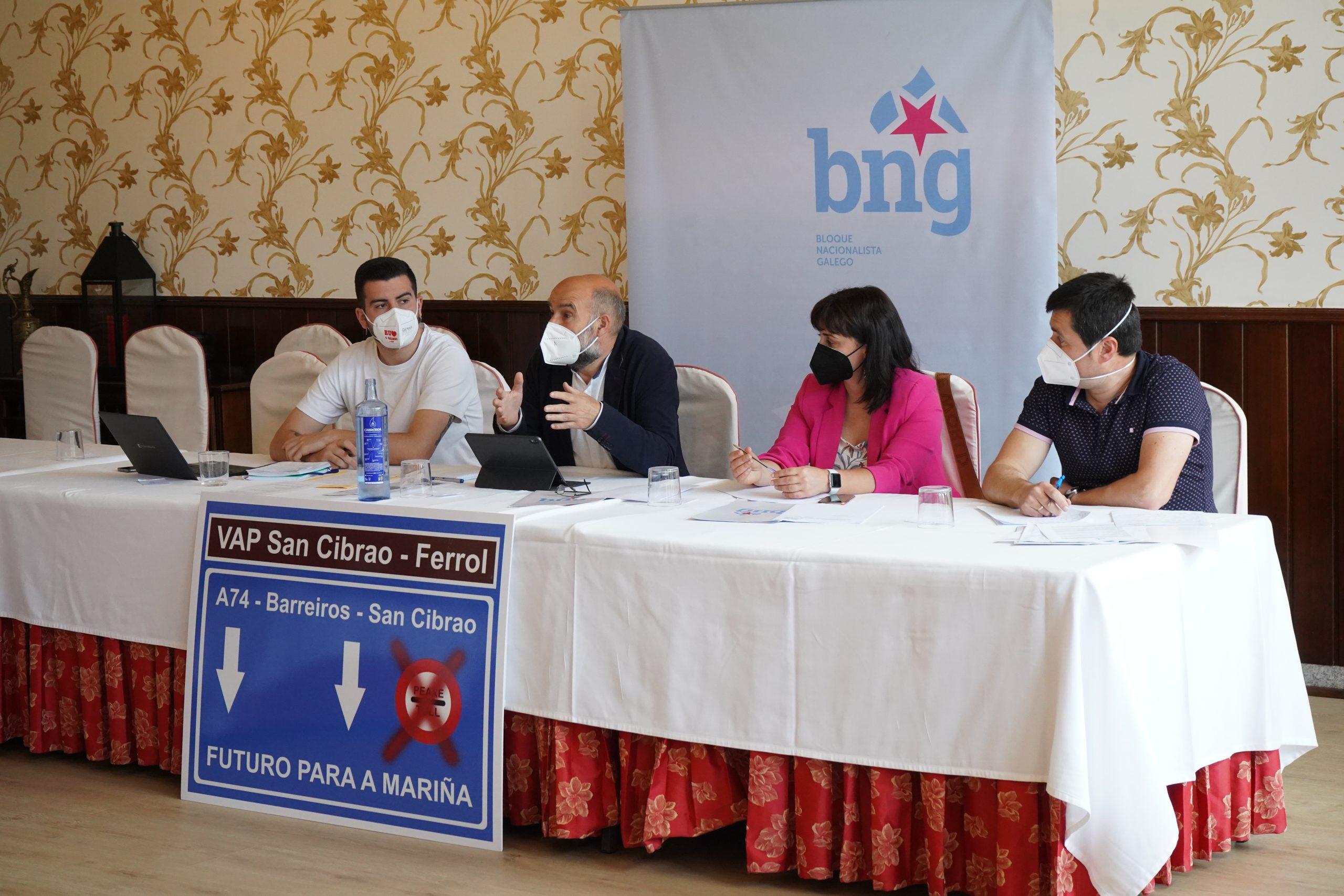 O BNG lanza a 'Mesa polas Infraestruturas da Mariña'
