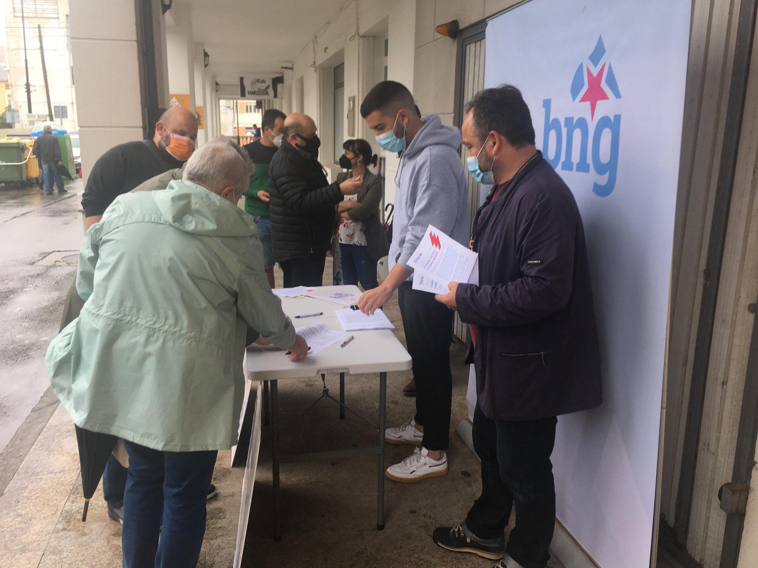 O BNG inicia unha campaña na Mariña para frear a suba da factura da luz e en defensa dunha tarifa elécrica galega