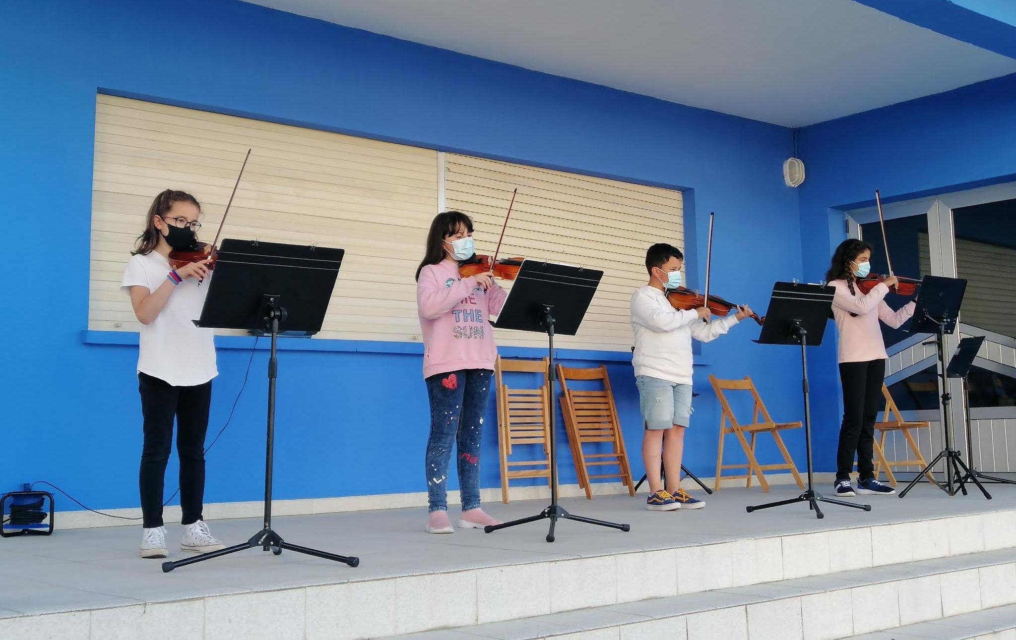 Audición da Aula de Cordas Fretadas e de infantil na Escola Municipal de Música de Burela