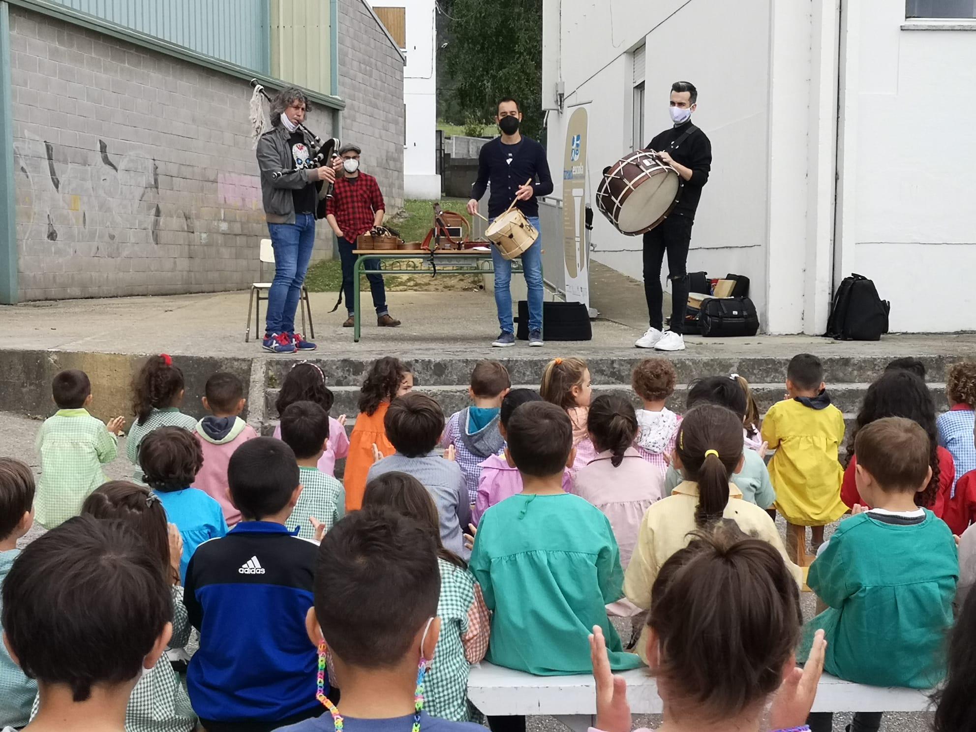 A Tradescola organizou 2 novos concertos didácticos de música tradicional para escolares de Reinante