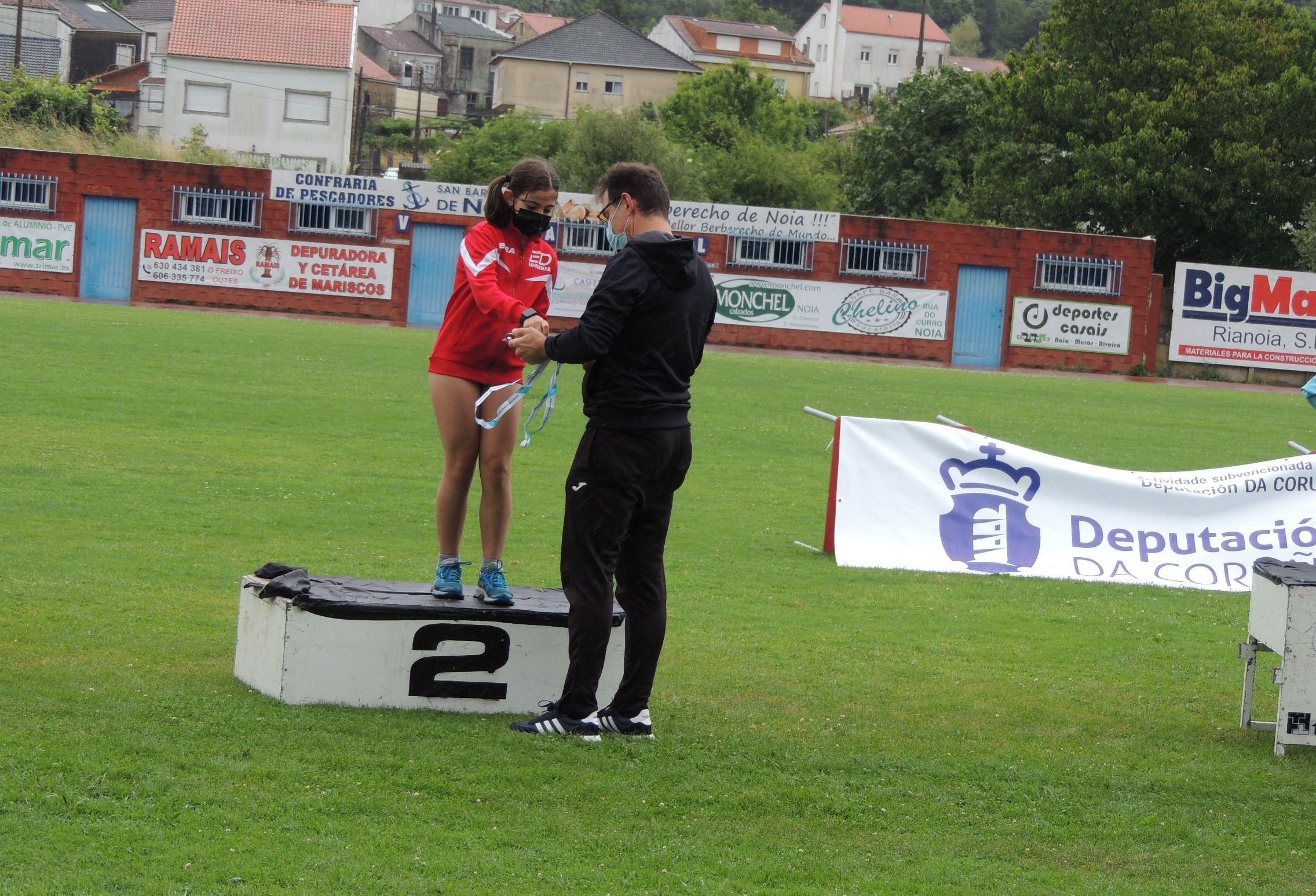 4 metais e un novo título autonómico para xs atletas do Maderas Barcia
