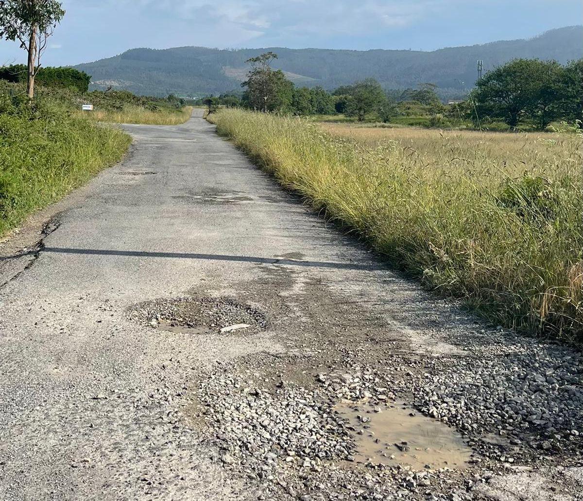 O PP urxe arranxar a vía municipal de saída de Rinlo