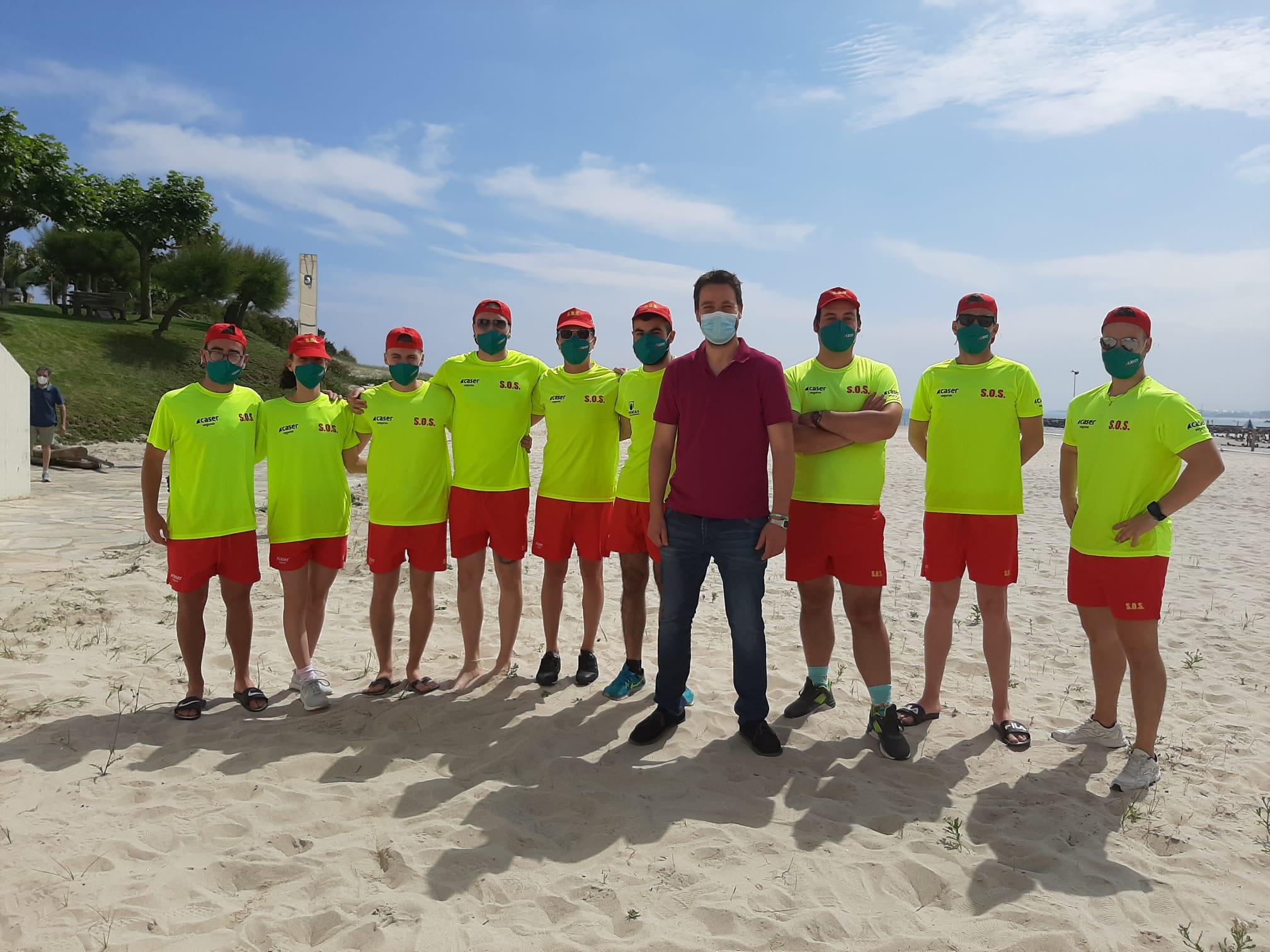 Comezou este xoves o servizo de socorrismo nas praias de A Rapadoira, Llas e Areoura