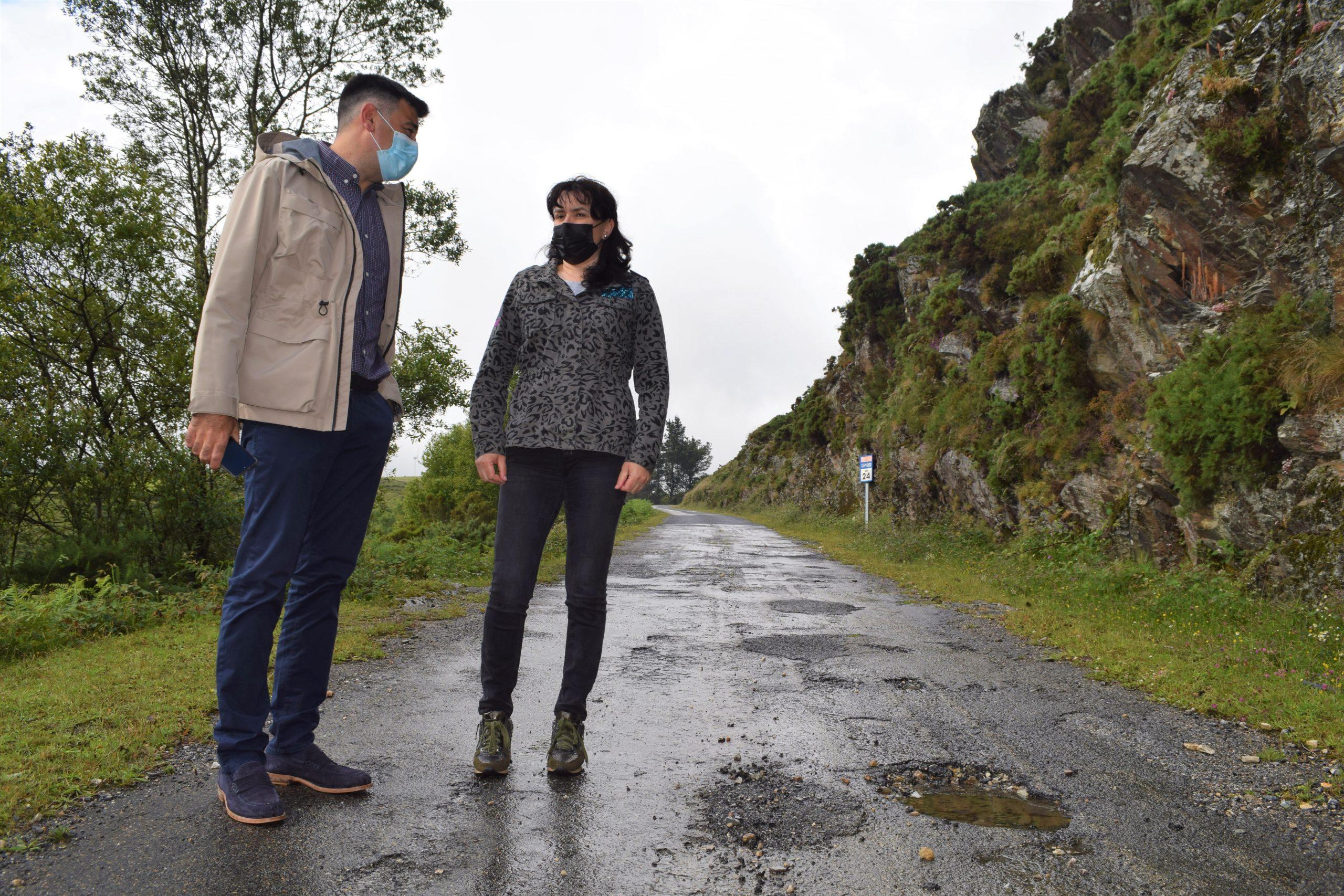 O PP denuncia a lentitude coa que se desenvolve a roza nas estradas provinciais e pide que se amañe a LU-P 6602 en Muras