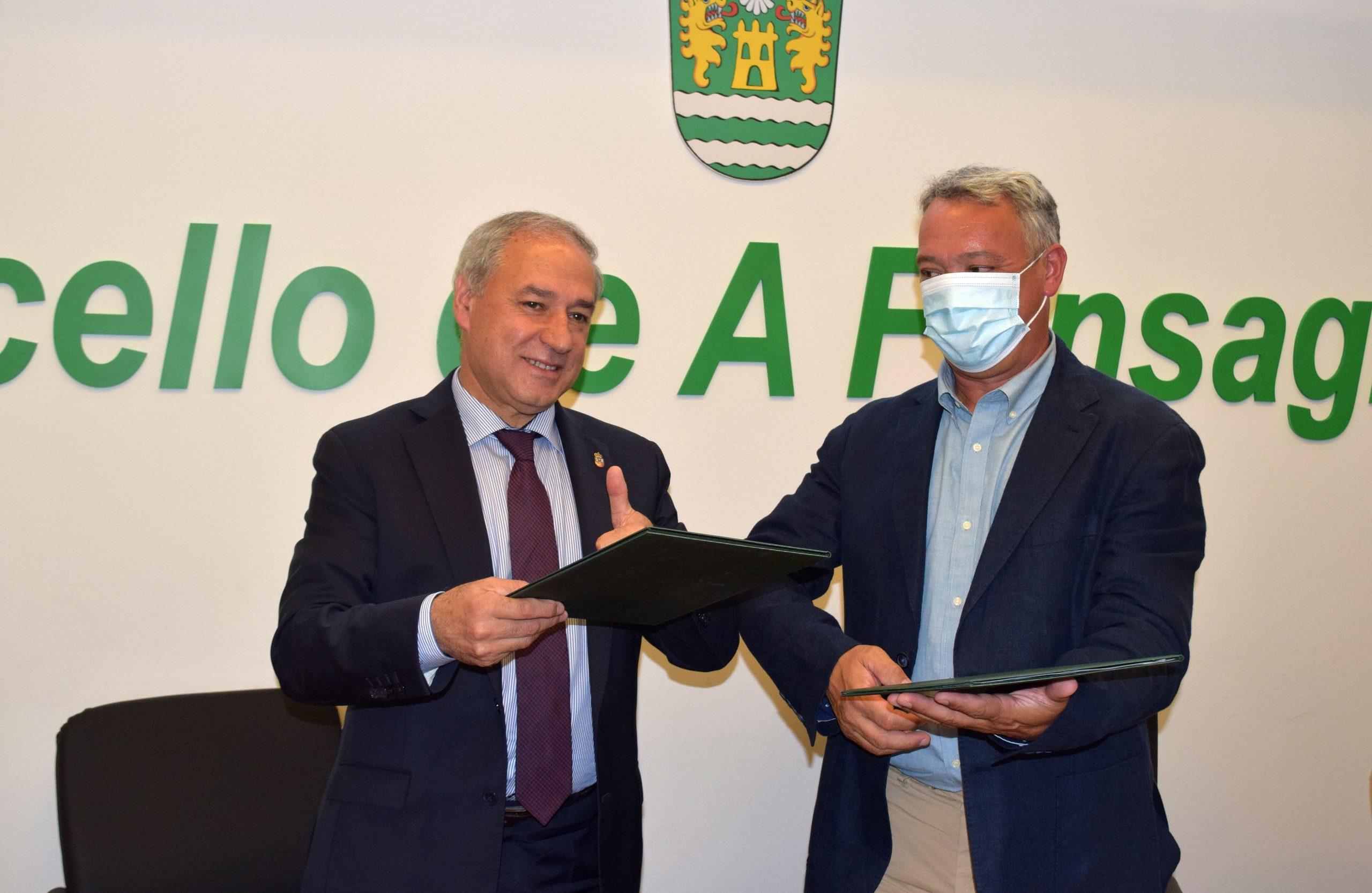 O Presidente da Deputación e o Alcalde da Fonsagrada asinan o convenio para redactar o proxecto do polígono industrial