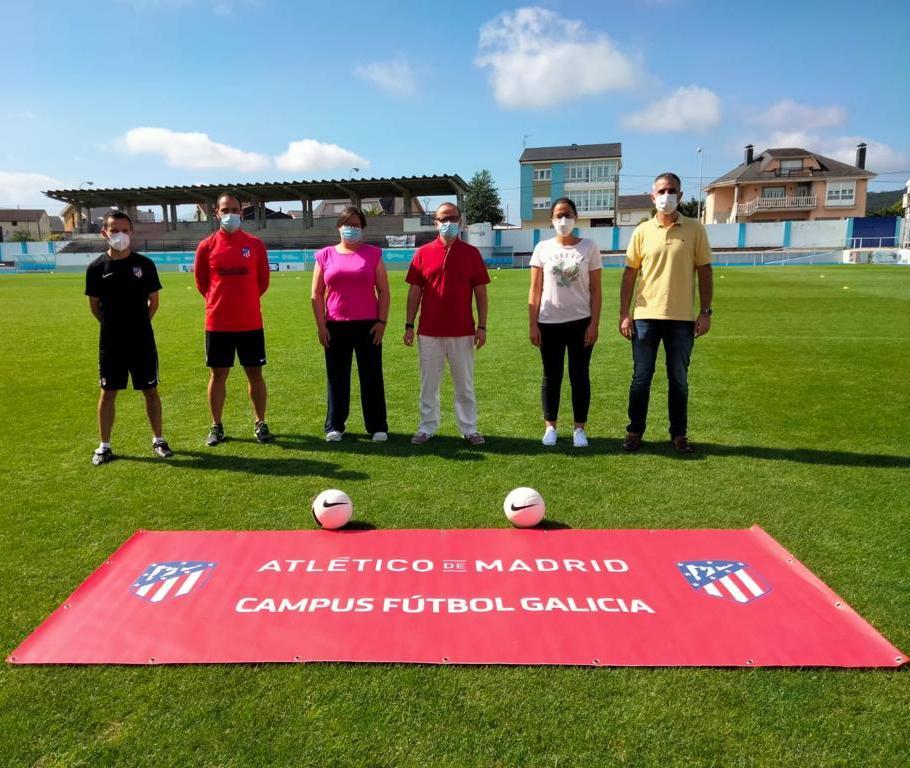 Éxito do campus de fútbol do Atlético de Madrid celebrado en Ribadeo