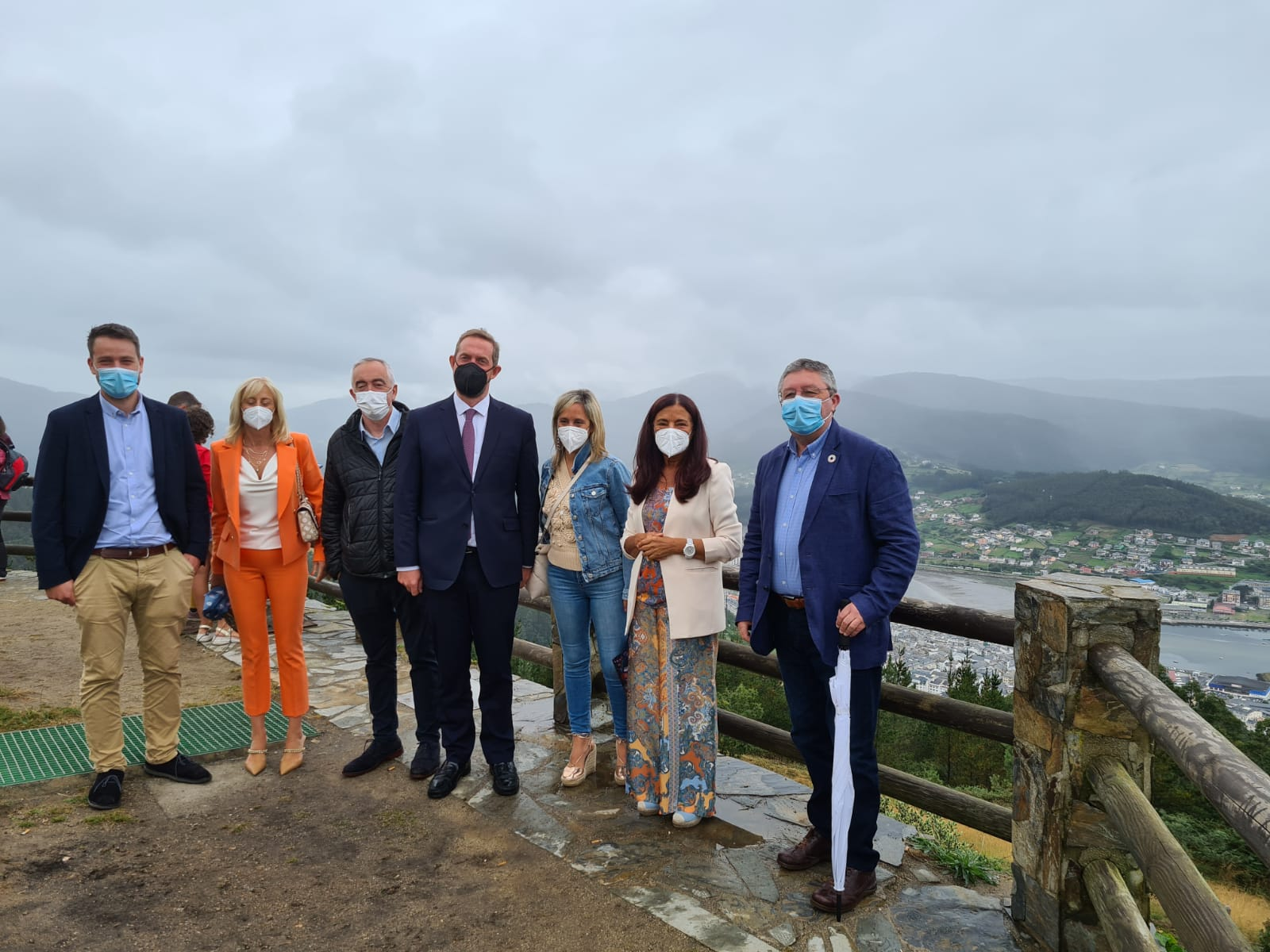 O Secretario de Estado de Turismo, Fernando Valdés, visita a Mariña