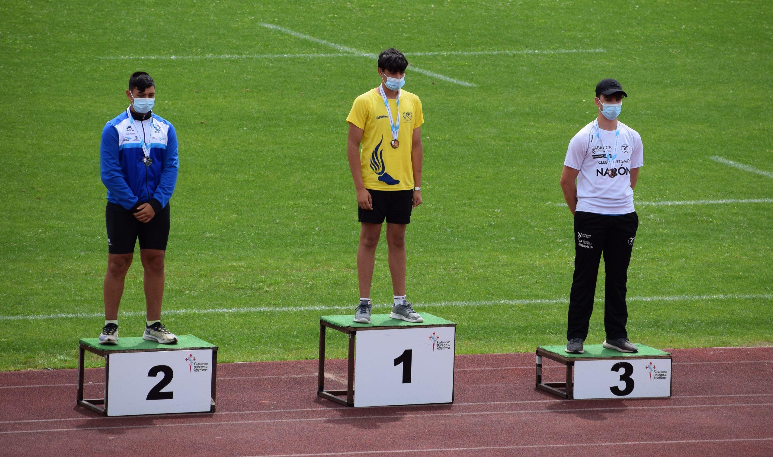 Brais Diaz Salas campión galego sub 16 de lanzamento de peso e bronce en xavelina