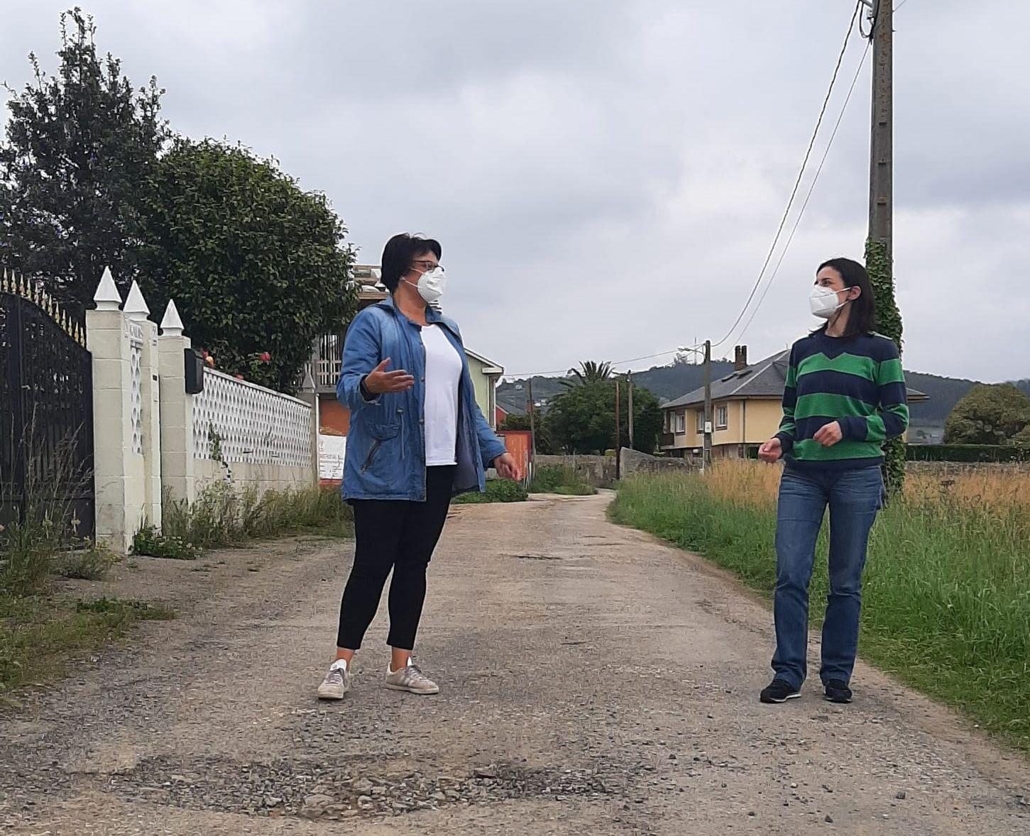 Os populares de Ribadeo denuncian abandono no rural e os barrios da vila