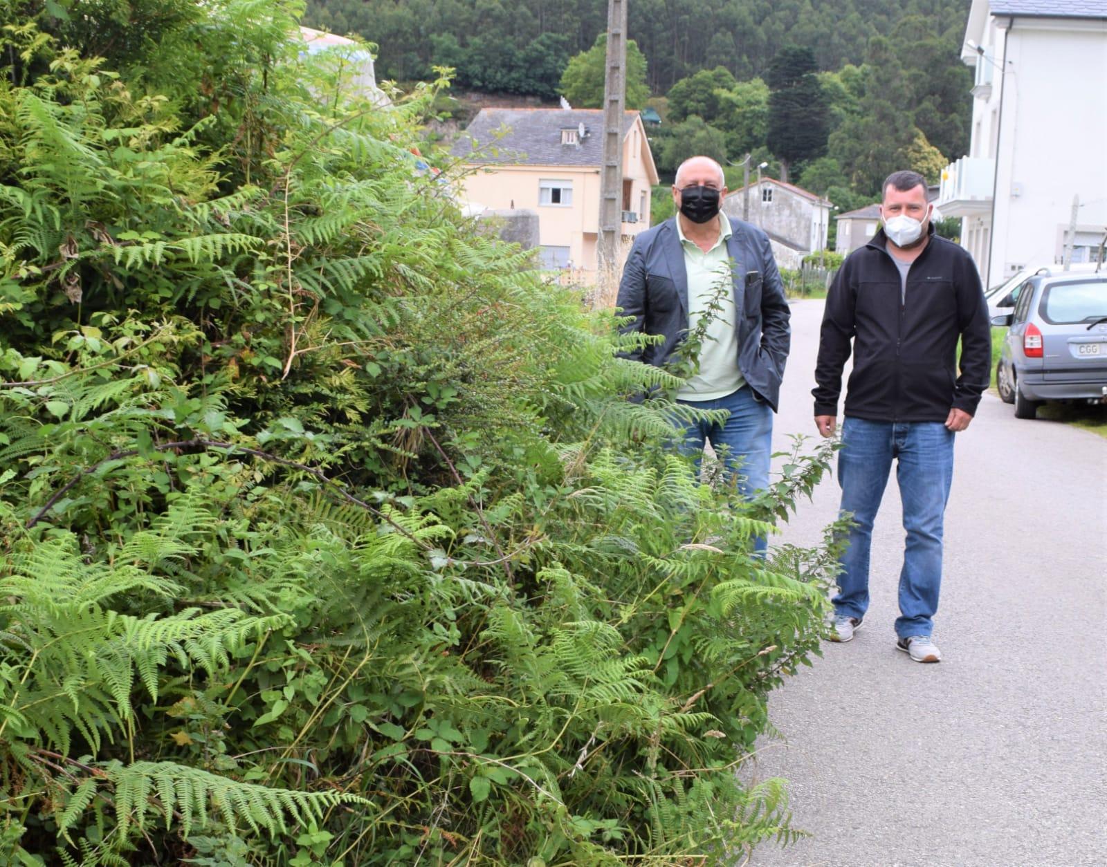 O PP de Viveiro apoia as reivindicacións dos veciños de A Furadiña-As Nogueiras e esixe ao goberno local que ordene rozar as beiras da estrada