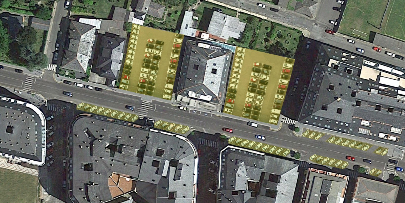 Sen avances na proposta do BNG para utilizar solares privados de Covas como aparcadoiros públicos
