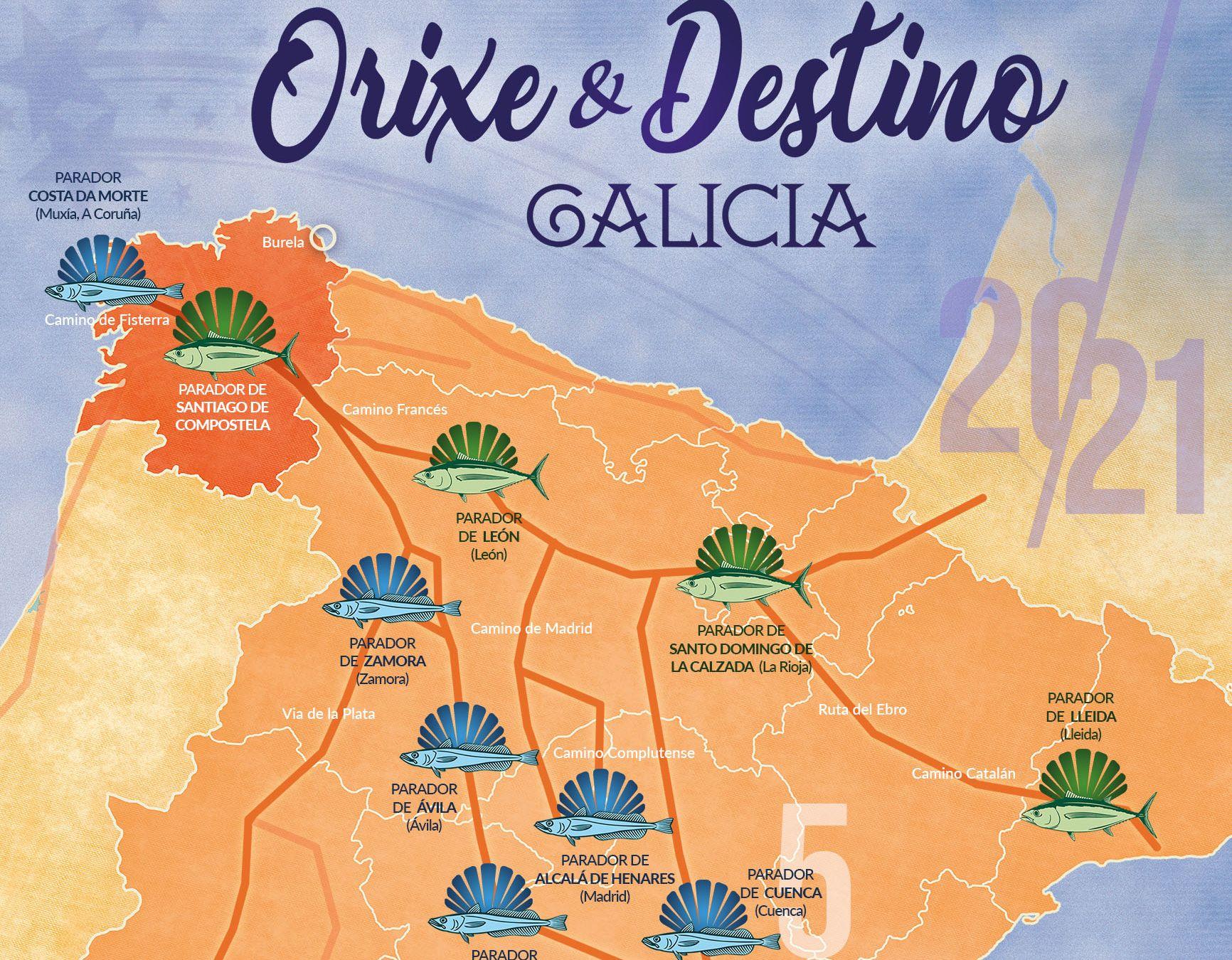A Merluza de Burela tamén fai o Camiño de Santiago